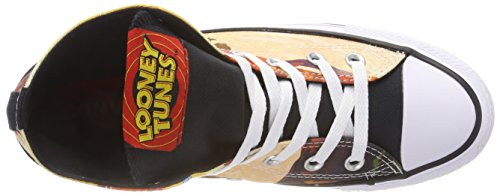 Converse Mens One Star Sneakers Ox In Pelle Scamosciata Mehrfarbig (nero / Rosso / Bianco 001) Looney Tunes 9529