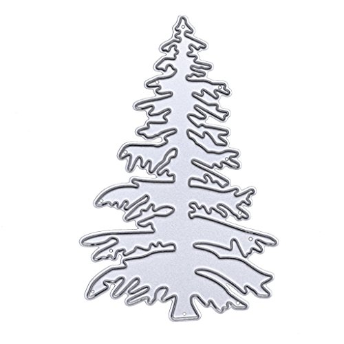 teel Cutting Dies Stencil Template for DIY Scrapbook Album Paper Card Craft Decoration - Christmas Tree (Christmas Envelope Templates)