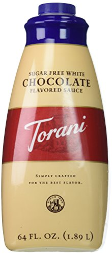 Torani Sugar Free White Chocolate Sauce, 64 Ounce ()
