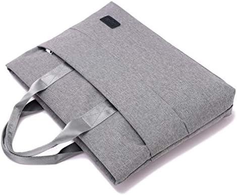 手錠キャンバスファイルバッグポータブルジッパー袋多層ブリーフケースシンプルなノートブックバッグ