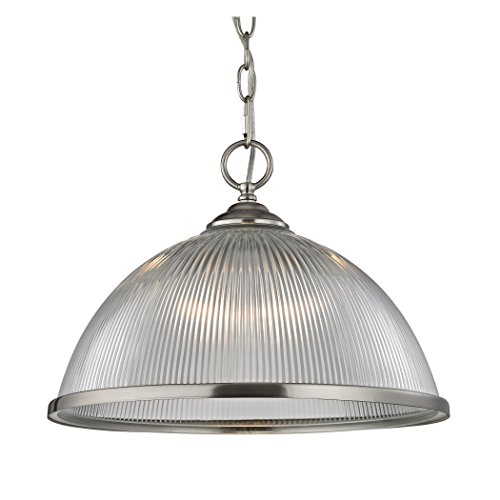 (Cornerstone Lighting 7691PL/20 Liberty Park 1 Light Pendant, Brushed Nickel )