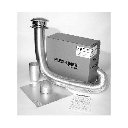 Metalbest AF35-06 6'' x 35-Foot Flexible Liner Aluminum Flex Liner Termination Ki, Aluminum by Chimney