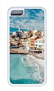 iPhone 5C Case,The Cinque Terre View Custom TPU Soft Case Cover Protector for iPhone 5C White wangjiang maoyi