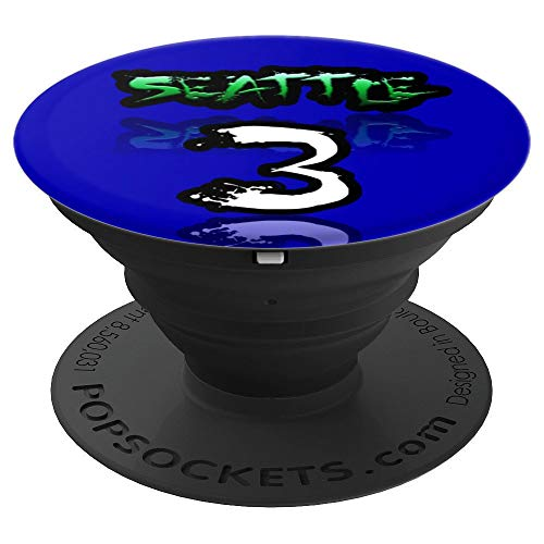 Seattle #3 Football Jersey - Halloween Sports Costume Ideas PopSockets Grip and Stand for Phones and Tablets (Best Running Back In College Football 2019)