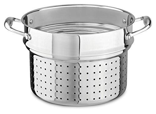 KitchenAid KCS80PIST 18/10 Stainless Steel Pasta Insert Cookware - Stainless Steel - Stainless Steel Steel Pasta Insert