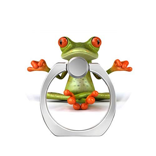 - 360 Degree Rotation Socket, Cell Phone Pop Grip Stand Works for All Smartphone and Tablets - Frog