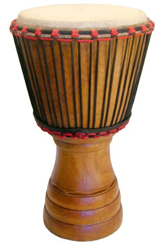 African Hand-carved Djembe Drum From Ivory Coast - 13'' X 24'' by Africa Heartwood Project