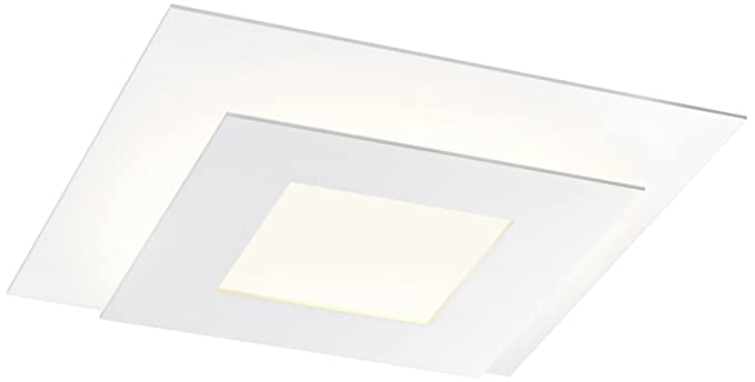Sonneman offset 15 w textured square led ceiling light amazon sonneman offset 15quot w textured square led ceiling light aloadofball Choice Image