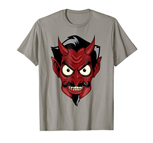 Price comparison product image Halloween Red Devil T-Shirt - Scary Satan Head Shirt