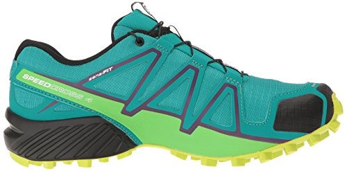 Salomon Women's Speedcross 4 W Trail Runner, Deep Peacock Blue/Lime Punch./Grape Juice, 5 B(M) US by Salomon (Image #7)
