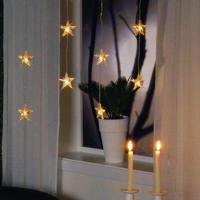 Lichtervorhang Micro 20er Sterne klar 40x180cm Liefermenge = 1 BEST SEASON GMBH 2006-03