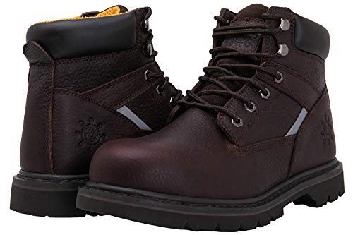 GW Men's 1606ST Steel Toe Work Boots (10.5 M US Men's, Brown)