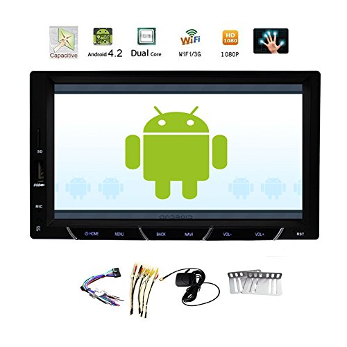 7'' GPS Navigation Video Capacitive Full-Touchscreen Android Car Radio NO-DVD CD Car Audio Video Player 2 din Mp3 Mp4 Car Stereo RDS Radio Touch Screen Audio Player+BT+WiFi CD DVD