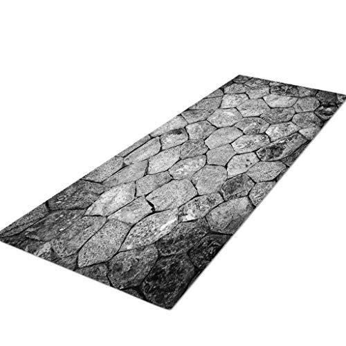 (Molyveva Modern Collection Area Rug Stripes Ocean Landscape Print Design, Anti-Static, Water-Repellent Rugs)