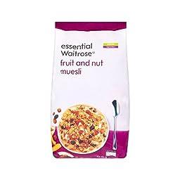 Fruit & Nut Muesli essential Waitrose 1kg - Pack of 4