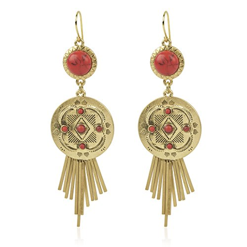 Danielle Nicole antique gold tone Eternity earring