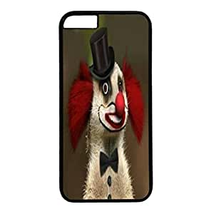 Custom Case Cover For iPhone 6 Plus Black PC Back Phone Case Hard Single Shell Skin For iPhone 6 Plus With Red Nose