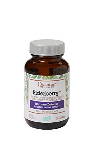 Quantum Elderberry Lozenges, 36 Raspberry Lozenges For Sale