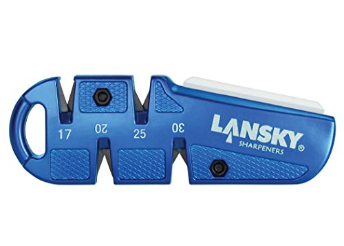 Lowest Prices! Lansky QuadSharp Carbide/Ceramic Multi Angle Knife Sharpener, Blue