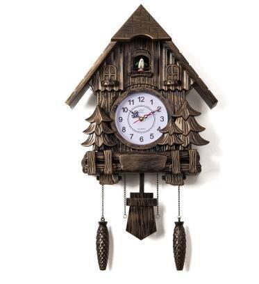 Reloj de cuco salón de moda Reloj de pared Reloj de alarma de 16 pulgadas de