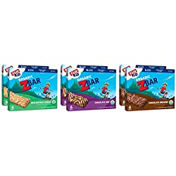 CLIF KID ZBAR - Organic Energy Bar - Chocolate Chip, Brownie and Iced Oatmeal Cookie Variety Pack - (1.27 Ounce Snack Bar, 36 Count)