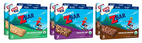 Organic Cookies Sports (CLIF KID ZBAR - Organic Energy Bar - Chocolate Chip, Brownie and Iced Oatmeal Cookie Value Pack - (1.27 Ounce Snack Bar, 36 Count))