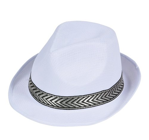 WHITE MESH FEDORA, Case of 96 by DollarItemDirect