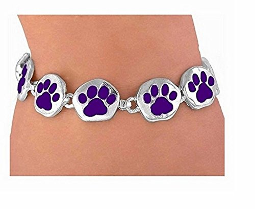 Dark Purple Magnetic Paw Bracelet by Lonestar Jewelry