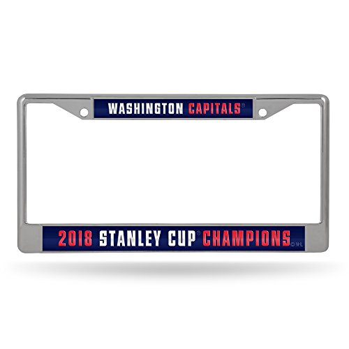 Rico Washington Capitals Stanley Cup Champions LASER CUT Chrome License Plate Frame