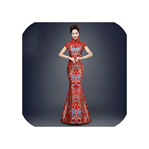 Red Chinese Traditional Dress for Wedding Party