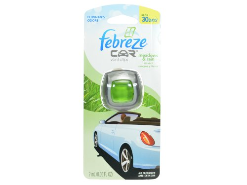 Febreze Car Vent Clips Air Freshener, Meadows & Rain, 1 Count 2 Ml Each (Pack of 8) by Febreze