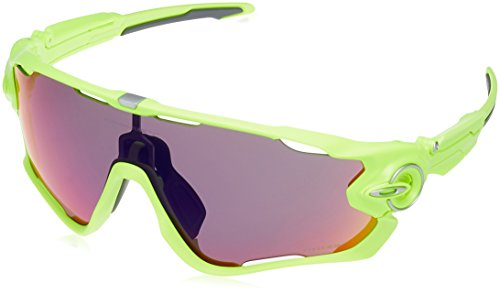 Oakley Men's OO9290 Jawbreaker Shield Sunglasses, Yellow/Prizm Road, 31 mm