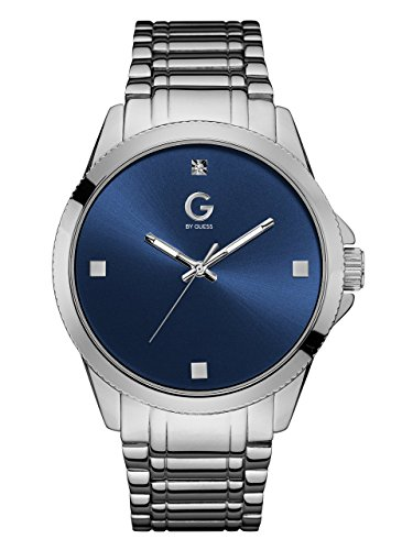 G-by-GUESS-Mens-Silver-Tone-and-Blue-Crystal-Watch