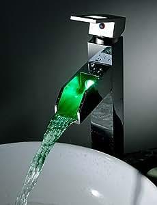 ZQ Personalit ¨ ¤ Moda Estilo montaje sobre plataforma Single Handle un orificio de cromo lavabo grifo del baño