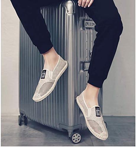 メンズ シューズ ローファー スニーカー 紳士サンダル スリッポン フラット カジュアル 靴 無地 滑り止め 履き脱ぎやすい きれいめ リネン 遊山 海辺 私服 通気抜群 蒸れない 黒 夏 デッキシュー ウォーキング