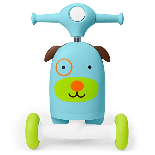 418TW3isWYL - Skip Hop Kids 3-in-1 Baby Activity Walker & Ride On Scooter Wagon Toy, Dog
