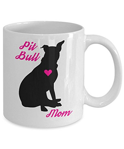 Pitbull Mug - Pit Bull Mom - Cute Novelty Coffee Cup For American Staffordshire Terrier Dog Lovers - Perfect Mother's Day Gift For Women Rescue Pet Owners 2