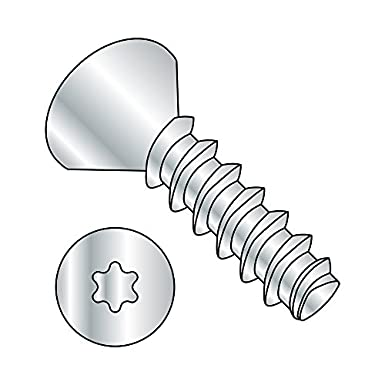 Pack of 100 #2-28 Thread Size Zinc Plated 5//16 Length Steel Thread Rolling Screw for Plastic Star Drive 82 Degree Flat Head