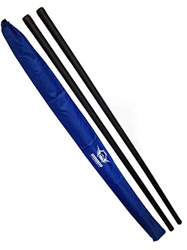 Foam Padded Training Bo Staff with Free Armory Carry Bag Case (Blue/Pair, 5 ft.) (Kung Fu Bo Staff)