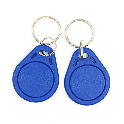THONSEN 125KHz EM4100 RFID Proximity Key Fob Read Only Color Blue for Door Access Control System (Pack of 20)