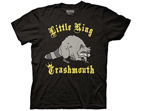 Burger King King - Ripple Junction Bob's Burgers Little King Trashmouth Adult T-Shirt XL Black