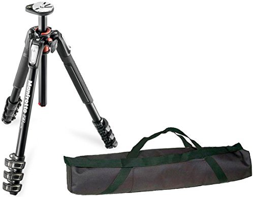 Manfrotto MT190XPRO4 4 Section Aluminum Tripod Legs with Q90 Column w/ 35'' Carrying Case by Manfrotto