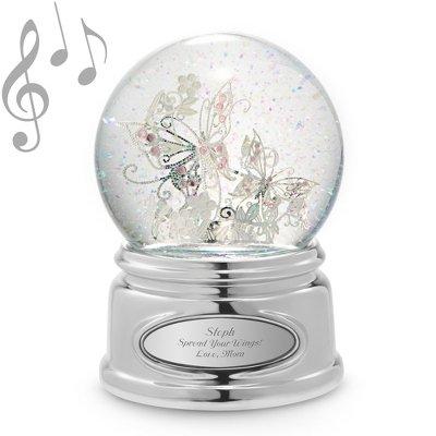 Amazoncom Butterfly Snow Globe Personalized Snowglobes