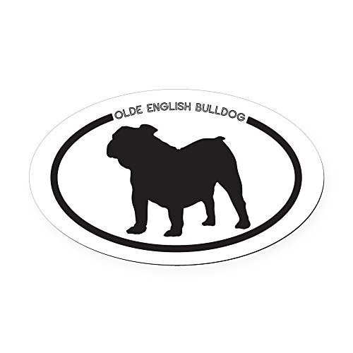 CafePress Olde-English-Bulldog Oval Car Magnet, Euro Oval Magnetic Bumper Sticker (Olde English Bulldogs)