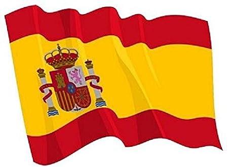 U24 Autoaufkleber Wehende Flagge Spanien 8 5 X 6 Cm Auto