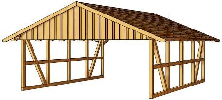 Skan - CarPort de madera (684 x 772 cm), diseño de la Selva Negra: Amazon.es: Jardín