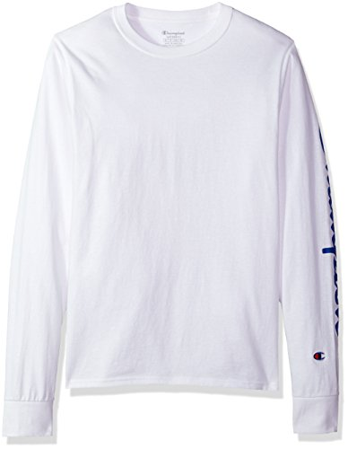 8a99d812 Galleon - Champion Men's Classic Jersey Long Sleeve Graphic T-Shirt, Left  Sleeve SC/White, X Large