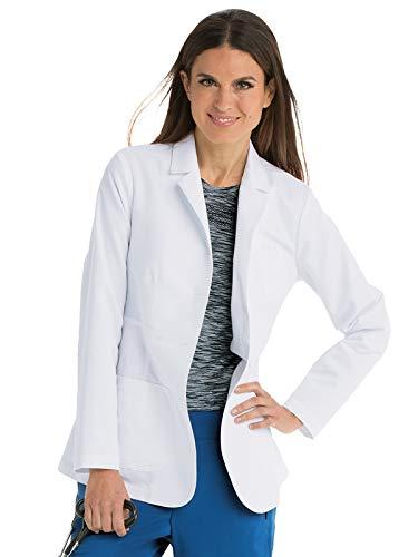 Grey's Anatomy 4456 Women's Notch Collar Lab Coat White S