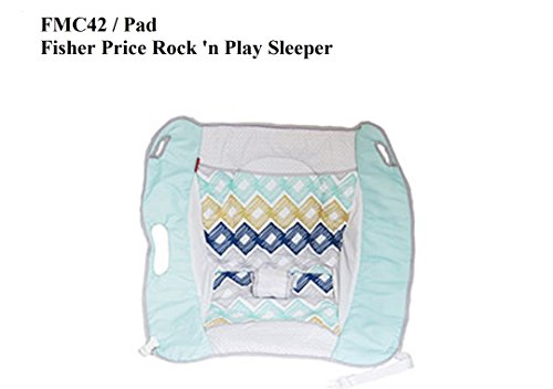 Replacement Pad for Fisher Price ROCK N PLAY SLEEPER Gray Blue Diamonds (Model FMC42)