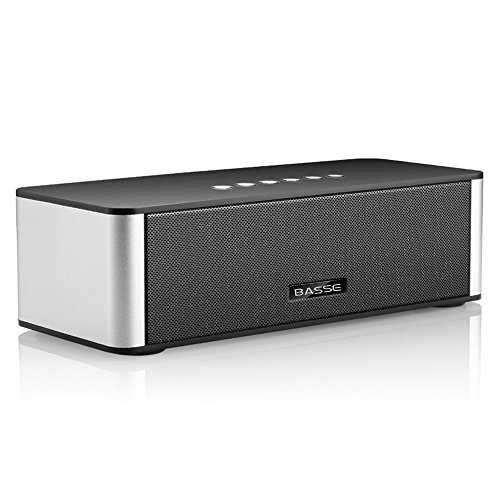 Basse Portable Dual-Driver Wireless Bluetooth Speaker with 2200mAh Battery and Built-in Mic - Black